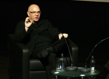 Anthony Minghella on stage at an Academy Life in Pictures event.