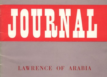 Lawrence of Arabia Journal winter 1962/63.
