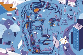 EE British Academy Film Awards Campaign and Brochure Illustration 2017