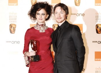 Eva Green and James McAvoy, winners of the Orange Rising Star Award in 2007 & 2006.