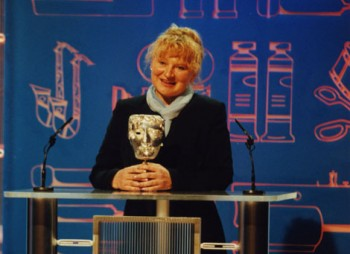 Make-up artist Dorka Nieradzik receives the Special Award at the British Academy Television Craft Awards in 2000.