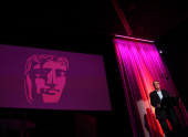"Bennett-Jones dedicated the lecture to his friend and colleague Nigel Farrell: ""We love and respect him very much for his talent, his integrity and friendship."" (Picture: BAFTA / J. Simonds)"