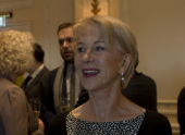 Helen Mirren enjoys a celebration in her honour, as BAFTA and Hackett mark her Academy Fellowship with a lunch at London's Savoy hotel.