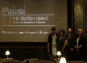 "Clio Barnard, Harlene Freezer, Emmanuel Kattan and Christina Thomas at the BAFTA screening of ""The Selfish Giant"" at Soho House, Manhattan with writer/director Clio Barnard"