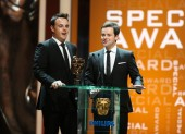 Much loved TV presenters Ant and Dec present the BAFTA Special Award. (BAFTA/Steve Butler)