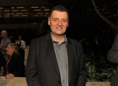 Steven Moffat at the Television Nominee's Party 2012