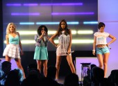 The girl group open the show with a live performance of three of their hits.
