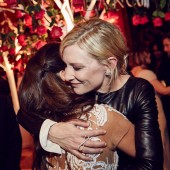 Penélope Cruz and Cate Blanchett at the BAFTA and Lancôme Nominees' Party