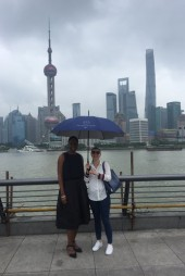 Walker and Quintrell go sightseeing in Shanghai.