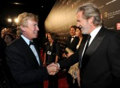 BAFTA Los Angeles Chairman Nigel Lythgoe greets Jeff Bridges at the Britannia Awards