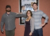 Directors Anne Boden and Ryan Fleck and Zach Galifianakis
