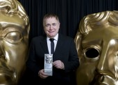Brian Cox with his BAFTA Scotland Acting Performance in Film Award for The Escapist.