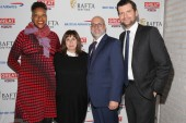 BAFTA New York CEO Julie La'Bassiere, screenwriter Abi Morgan, mdoerator Joe Neumaier and BAFTA New York Chair Luke Parker Bowles.