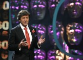Melvyn Bragg on stage at Happy Birthday BAFTA