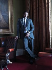 """Idris Elba photographed for """"Drama Ties"""", a photographic essay printed in the 2011 Television Awards programme."""