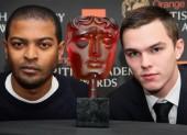 Orange Rising Star Award Nominee Nicholas Hoult with the 2009 winner, Noel Clarke.