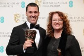 BAFTA winners and presenters in the press room backstage at the Royal Opera House for the EE British Academy Film Awards on Sun 10 Feb 2013.