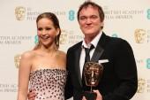 Quentin Tarantino with Jennifer Lawrence