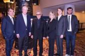 Producer Nicola Giuliano with Michael Caine, Harvey Keitel, Jane Fonda, Paul Dano and moderator David Nugent.