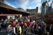 Guests arriving at Tobacco Dock for a day of gaming at EGX Rezzed
