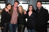 Producer Shannon Macintosh, director Quentin Tarantino, actress Jennifer Jason Lee, producer Stacey Sher and actor Walton Goggins.
