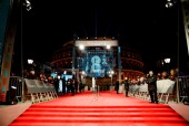 Event: EE British Academy Film Awards Date: Sunday 18 February 2018 Venue: Royal Albert Hall, London Host: Joanna Lumley-Area: Branding & Set-Up