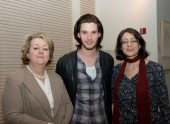 BAFTA New York CEO Christina Thomas, Ben Barnes and Screening Committee Co-Chair Susan Wagner.