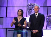 Dame Kelly Holmes and Jonathan Edwards present the Sport & Live Event award.