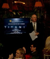 BAFTA New York Vice Chairman Charles Tremayne welcomes attendees to the Titanic Screening and Q&A