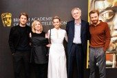 Joe Alwyn, Josie Rourke, Margot Robbie, Dr. John Guy and Jack Lowden