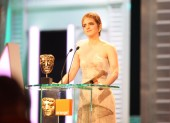 Emma Watson of the Harry Potter series announces the Outstanding British Film winner. (Pic: BAFTA/ Stephen Butler)