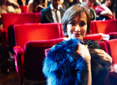 Kristen Scott Thomas, photographed at the 2010 Film Awards