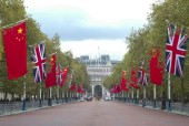 Preparations for the visit of Chinese President Xi Jinping, London, Britain - 19 Oct 2015