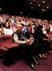 Ray and Diana Harryhausen waiting for the start of the event (BAFTA/Brian J Ritchie).