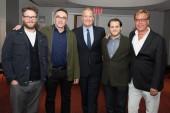 Seth Rogen, Director Danny Boyle, Jeff Daniels, Michael Stuhlbarg and Screenwriter Aaron Sorkin.