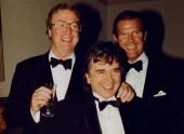 Michael Caine, Dudley Moore and Roger Moore