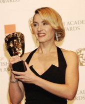 Kate Winslet fought off stiff competition to take the Leading Actress award, for The Reader (BAFTA/ Richard Kendal).