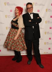 Jane Goldman and Charlie Higson, who revealed Portal 2 as the winner of the Story  BAFTA.