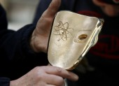 BAFTA Masks being made at the New Pro Foundries in West Drayton, Middlesex.
