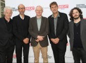BAFTA New York Chair Charles Tremayne, with Richard Curtis, Eric Fellner, Tim Bevan, and Edgar Wright.