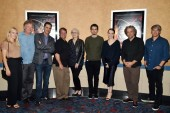 Olivia Hamilton, Rick Armstrong, Josh Singer, Mark Armstrong, Mildred Iatrou Morgan, Damien Chazelle, Claire Foy, Paul Lambert and Tom Cross