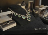 A stunning display of emerald pieces from official BAFTA jewellery partner CARAT*.
