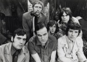 The Monty Python Troupe (1969) - Top Row (l to r): Graham Chapman, Eric Idle, Terry Gilliam; Bottom Row (l to r): Terry Jones, John Cleese, Michael Palin.