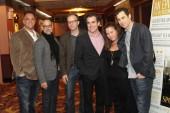 Producer Michael Sugar, Stanley Tucci, director Tom McCarthy, Brian d'Arcy James, producer Nicole Rocklin and screenwriter Josh Singer.