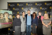 Screenwriter Abi Morgan, Director Sarah Gavron, BAFTA New York Chair Luke Parker Bowles, Moderator Dee Poku, and Producers Faye Ward and Alison Owen.