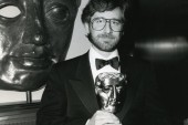 Steven Spielberg with his BAFTA Fellowship Award - 1986