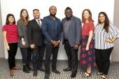 Jess Hock, Taylor Silver, Rafael Samanez, Rashad Frett, Emmanuel Adu Poku, Shannon Ryan and Zubaira Ahmed