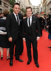 Ant and Dec arrive at the Philips British Academy Television Awards to present the Special Award to Simon Cowell (BAFTA/Richard Kendal).