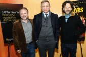 Rian Johnson, Daniel Craig and Ram Bergman