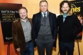 Rian Johnson, Daniel Craig and Ram Bergman